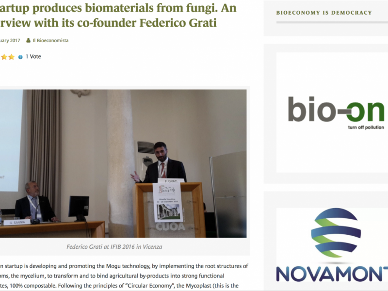 Il Bioeconomista – press article