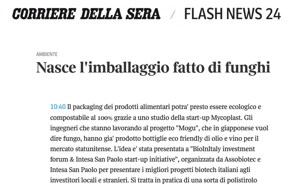 Corriere della Sera – press article