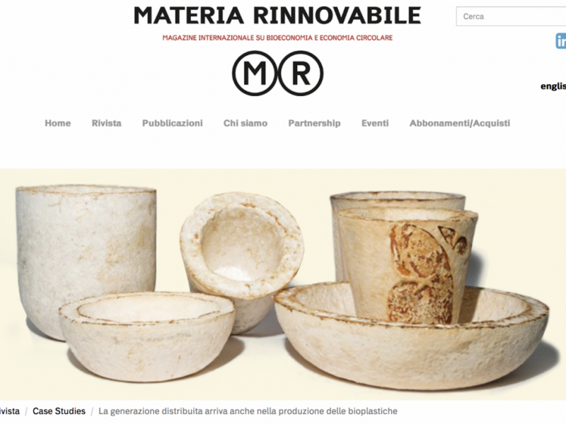 Materia Rinnovabile – Press article