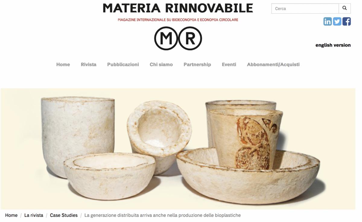 Materia Rinnovabile – Press article