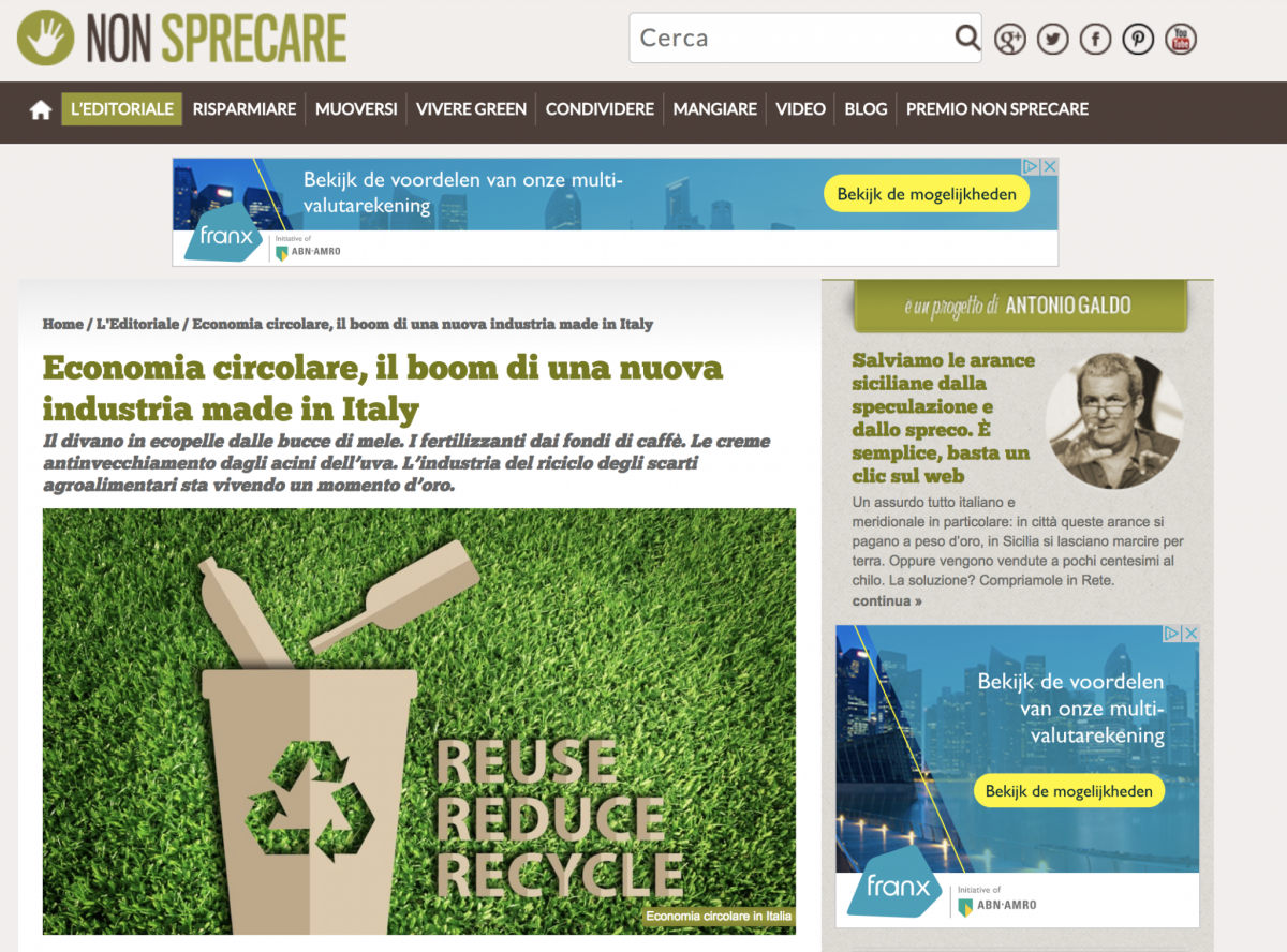 Non Sprecare – press article