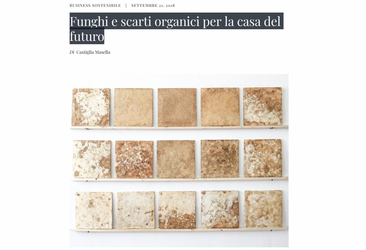 Riciblog – Funghi e scarti organici per la casa del futuro – press article