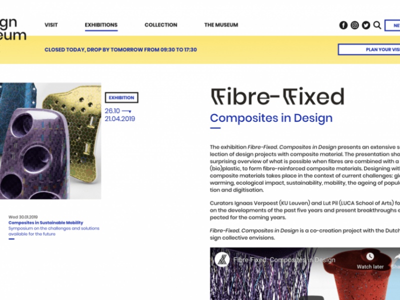 FIBRE FIXED – Design Museum – Gent (BE) – Exhibition