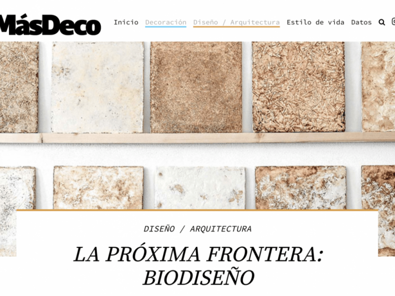 MásDeco – Proxima Frontera Biodiseno – Article