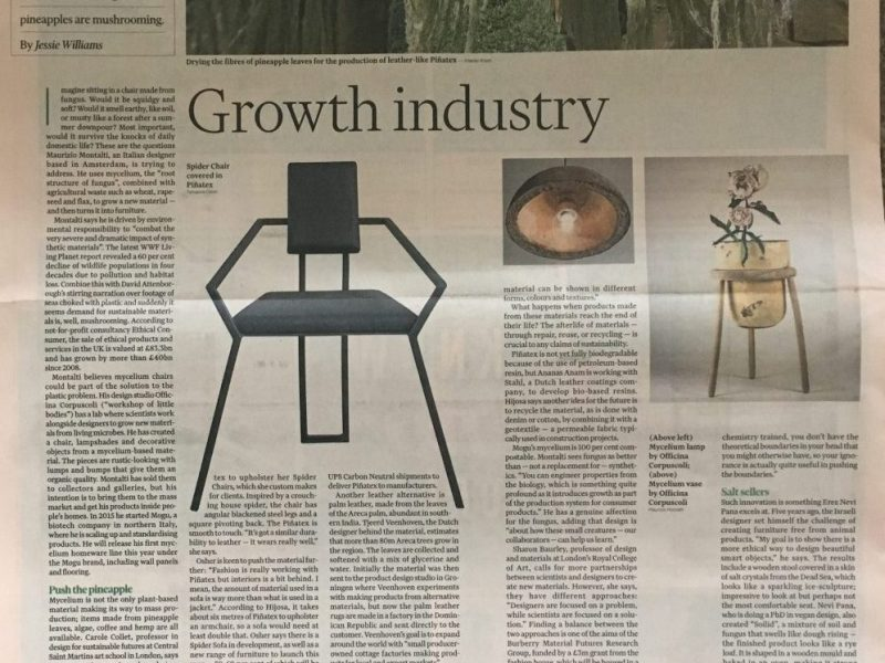 Growth Industry @Financial Times (UK) – Article