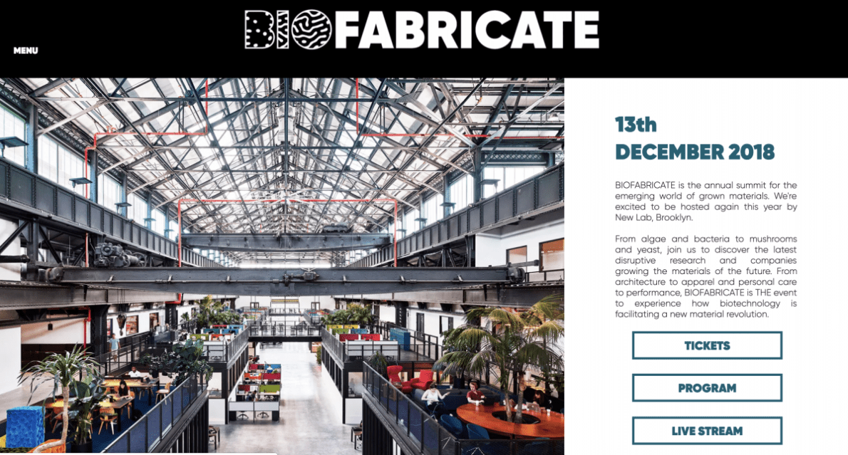 BIOFABRICATE 2018 @NewLab – Brooklyn (USA) – Public Talk & Panel & Exhibition