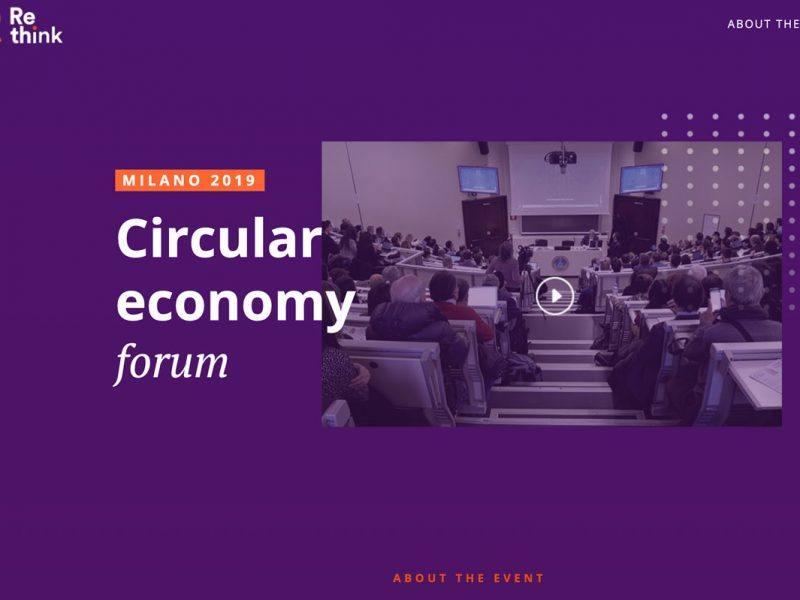 RE-THINK – Circular Economy Forum @Tondo / Università Cattolica Milan (IT) – Report